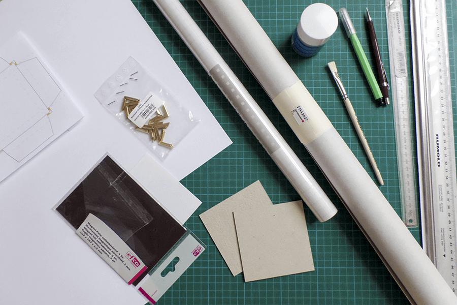 mappe selbst herstellen Materialien