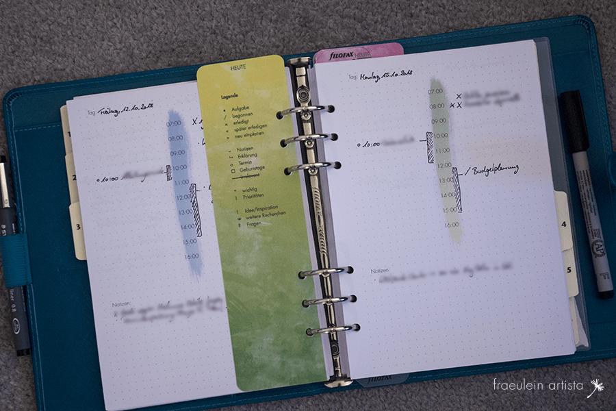 Bullet Journal Tagesplan