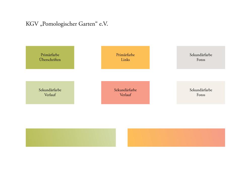 Farbgebung der Website garten-goerlitz.de