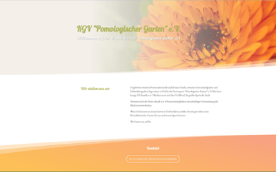 Gartenwebsite ist online
