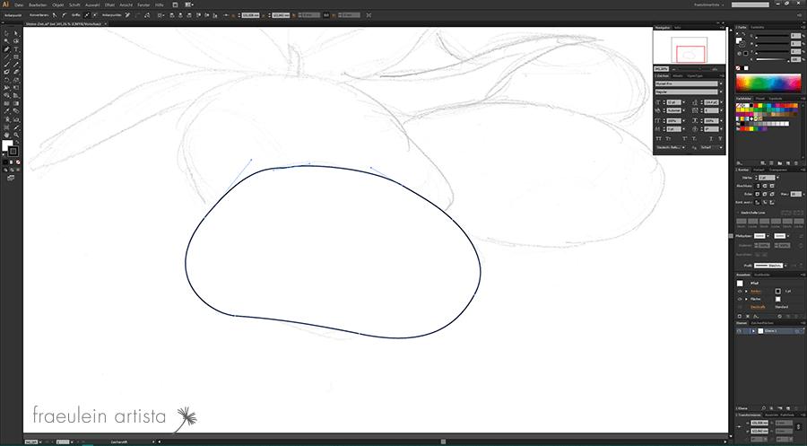 03 Grafik erstellen Adobe Illustrator geschlossener Pfad
