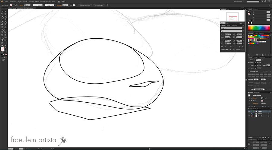 09 Grafik erstellen Adobe Illustrator Stein mit Formen