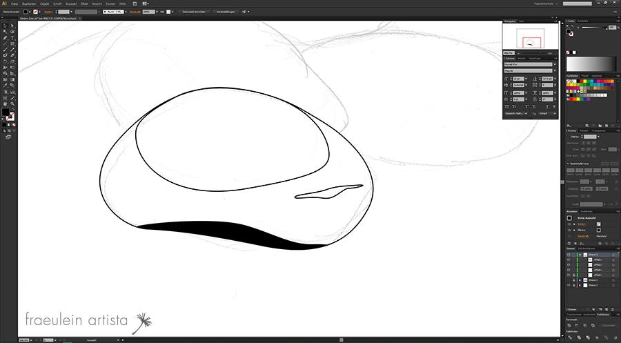 11 Grafik erstellen Adobe Illustrator Ergebnis Teilung