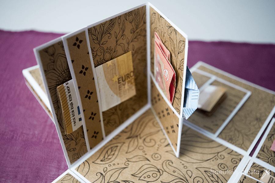 Explosionsbox für Geldgeschenke Geld Detail