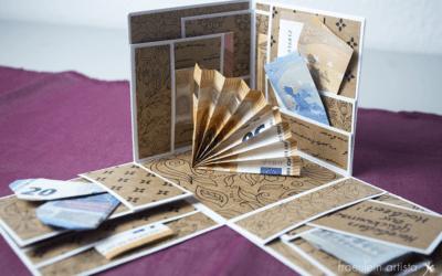 Explosionsbox für Geldgeschenke zur Hochzeit