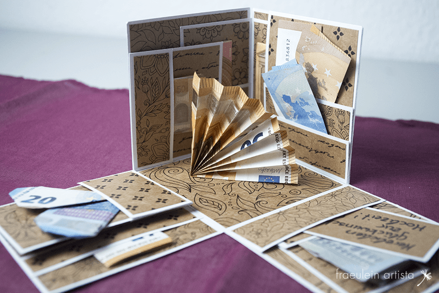 Explosionsbox für Geldgesche Geld Überblick