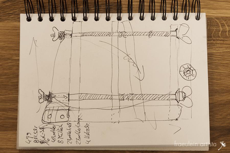 Buchpresse bauen: Skizze1