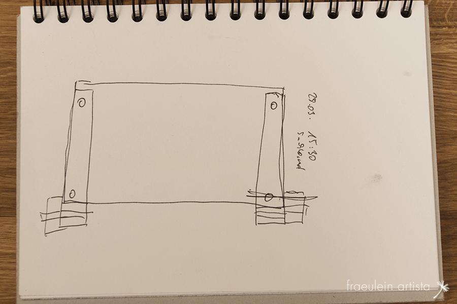 Buchpresse bauen: Skizze2