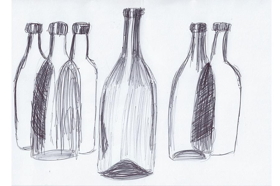 5-Minuten-Bilder Flaschen