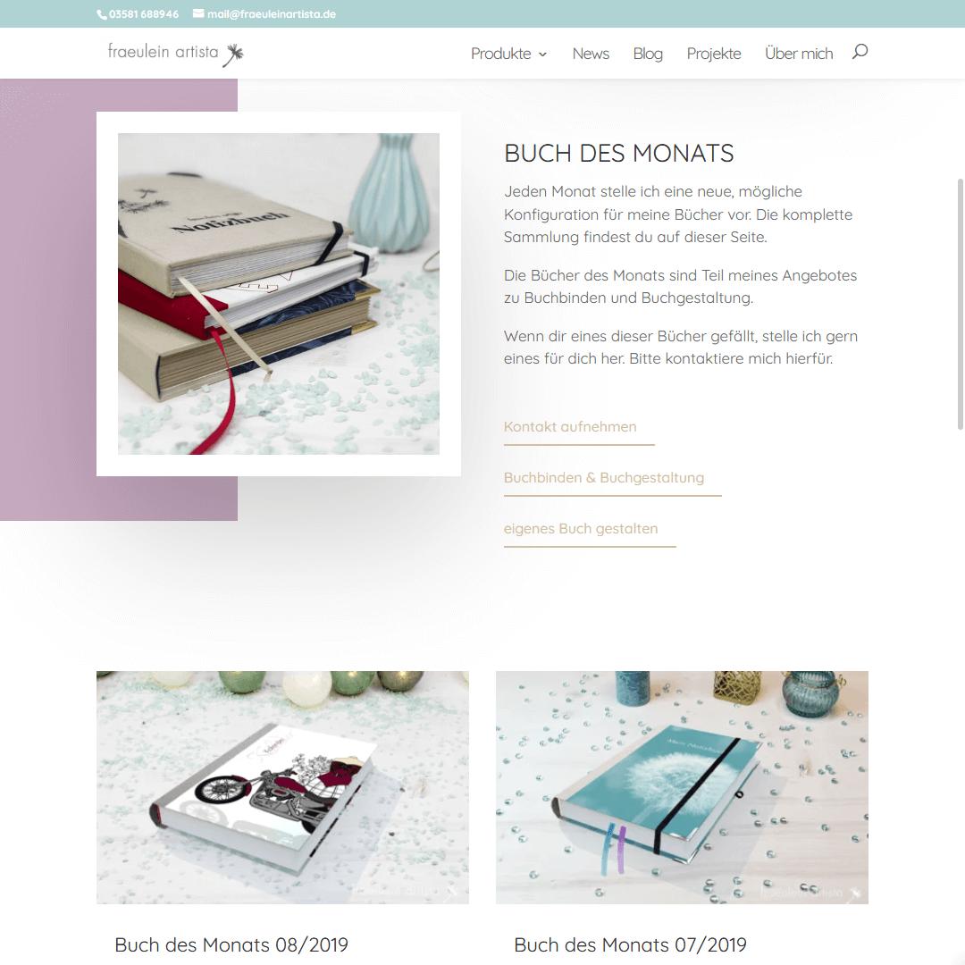 Website Buch des Monats-BEreich